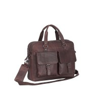 Laptoptas Chesterfield George Businessbag Brown 15.6 inch